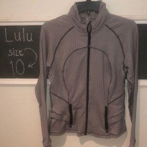 Herringbone white and gray Lululemon jacket